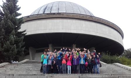 Wycieczka klas V i VI do Planetarium i Telewizji Silesia