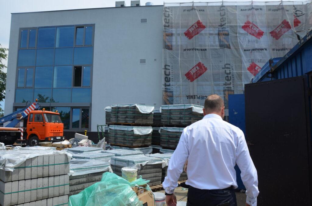 Budowa nowej części szkoły